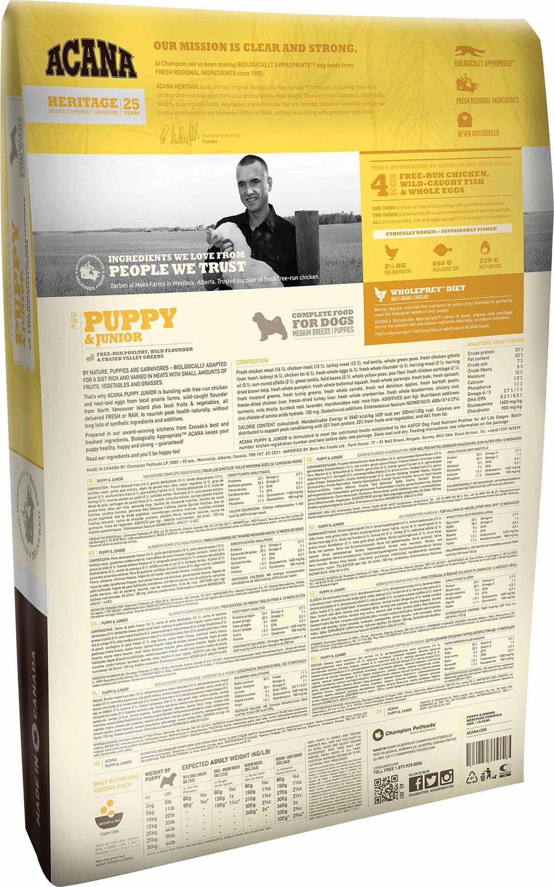 Starter Kit Acana Puppy Amp Junior Dog Food The Pet